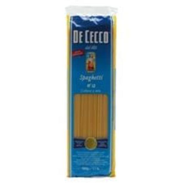 Oferta de Spaghetti De Cecco nº 12  500 g por R$13,14