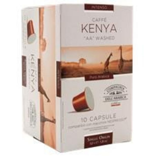 Oferta de Cápsulas de Café Corsini Kenya Caixa com 10  Unidades 52 g por R$16,99