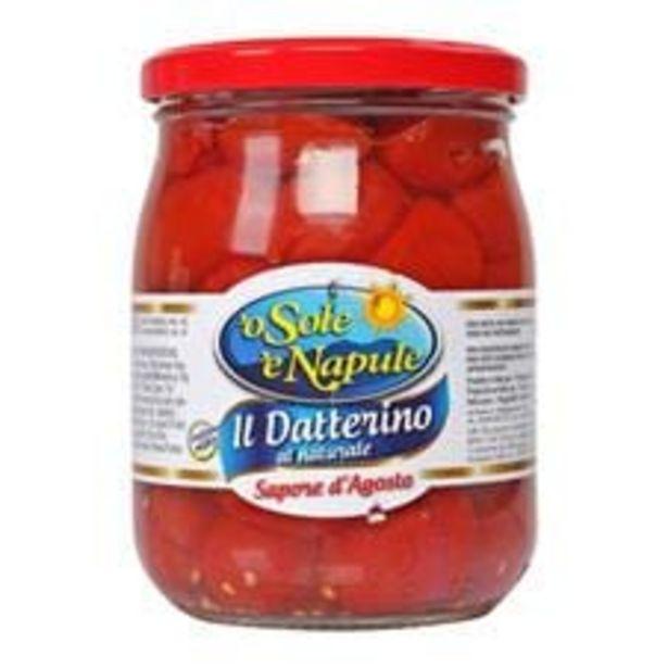 Oferta de Tomate Cereja Pelado 'o Sole 'e Napule Vidro  380 g por R$9,9