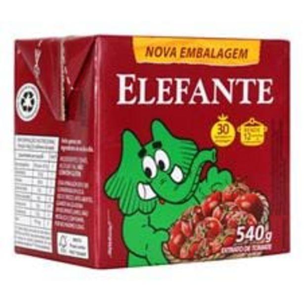 Oferta de Extrato de Tomate Elefante Tetra Pak  540 g por R$6,79