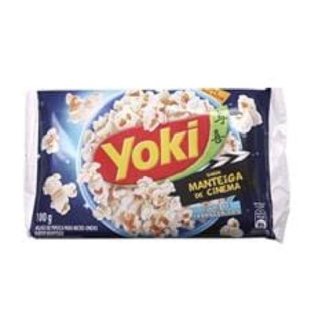Oferta de Milho para Pipoca de Micro ondas Yoki Pop Corn Cinema Manteiga  100 g por R$2,89