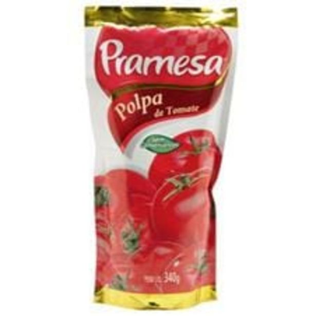Oferta de Polpa de Tomate sem Conservantes Pramesa Sachê  340 g por R$1,49