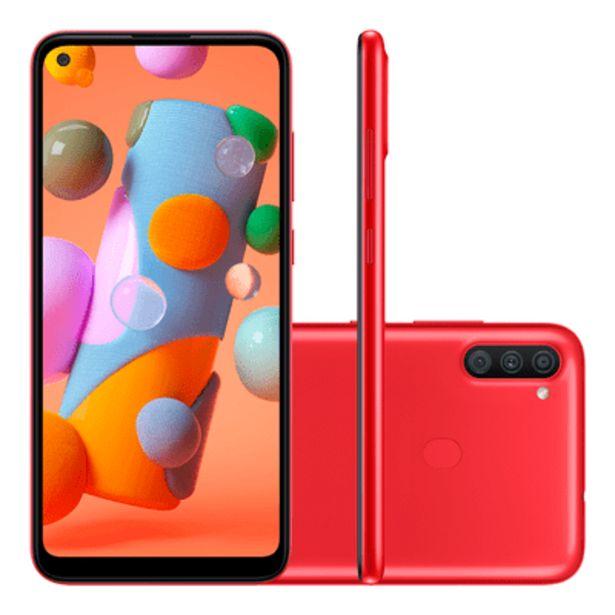Oferta de Smartphone Samsung A11 64GB Vermelho por R$1199