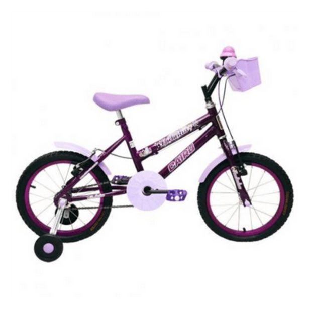 Oferta de Bicicleta Feminina Aro 16 Fadinha Lilás Cairu por R$429