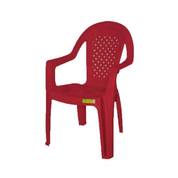 Oferta de Cadeira de Plástico Topplast com Braço Vinho por R$39,9