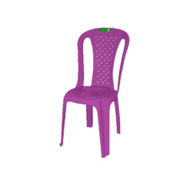 Oferta de Cadeira de Plástico Topplast sem Braço Bistro Lilás por R$32