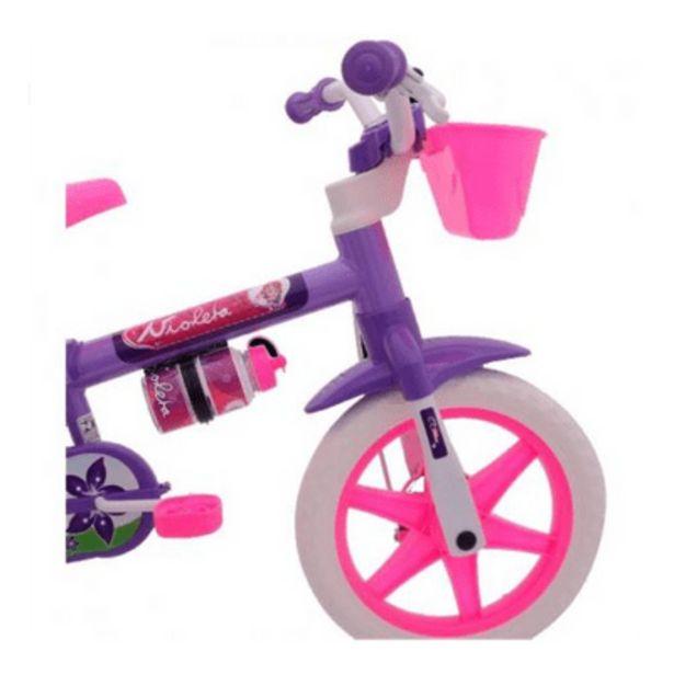 Oferta de Bicicleta Aro 12 Feminino Violeta Cairu por R$189