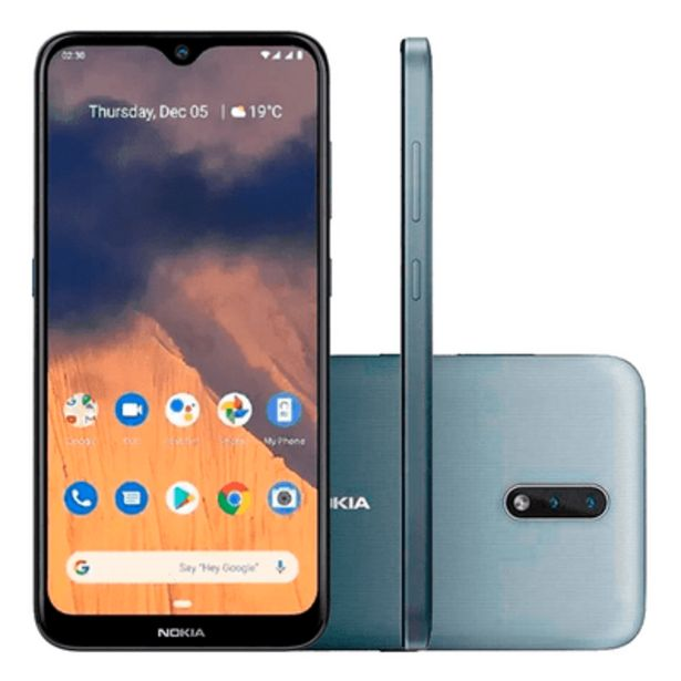 Oferta de Smartphone Nokia 2.3, 32GB, 13MP, Tela 6.2´, Cinza - NK003 por R$989