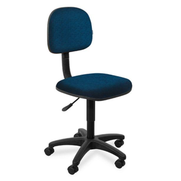 Oferta de Cadeira de Escritório Giobel Giratória Azul/Preto por R$334,9