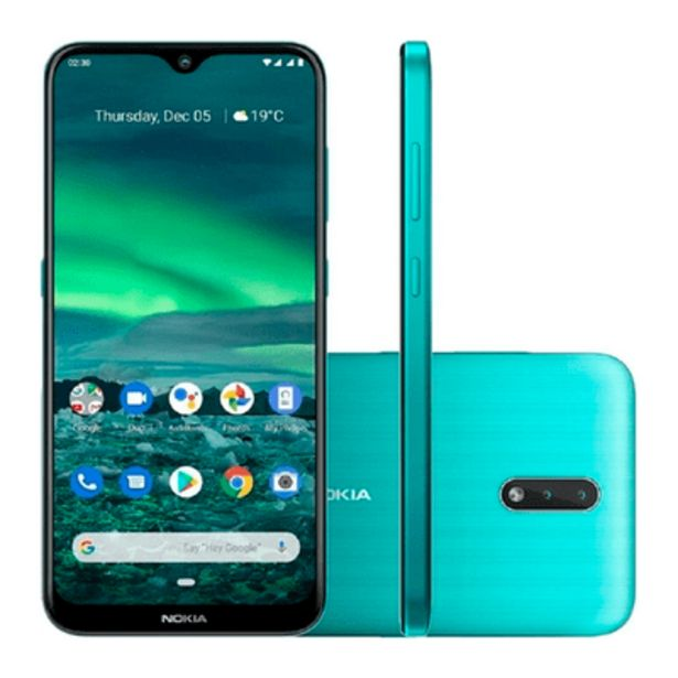 Oferta de Smartphone Nokia 2.3, 32GB, 13MP, Tela 6.2´, Verde Ciano - NK005 por R$989