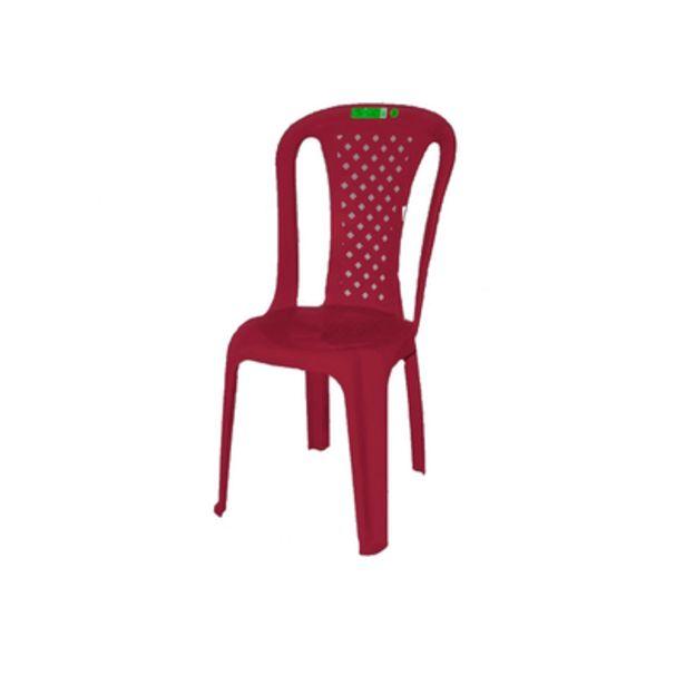 Oferta de Cadeira de Plástico Topplast sem Braço Bistro Vinho por R$32