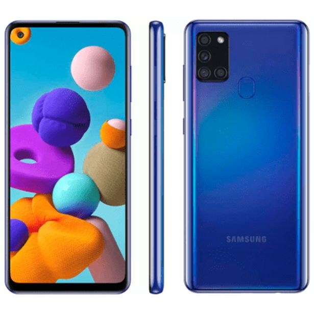 Oferta de Smartphone Samsung A21S 64GB Azul por R$1479