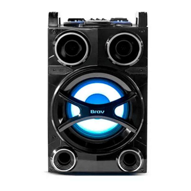 Oferta de Caixa Amplificada  Brav 8000 Plus 100W HS Sound Hot Sat por R$931,9