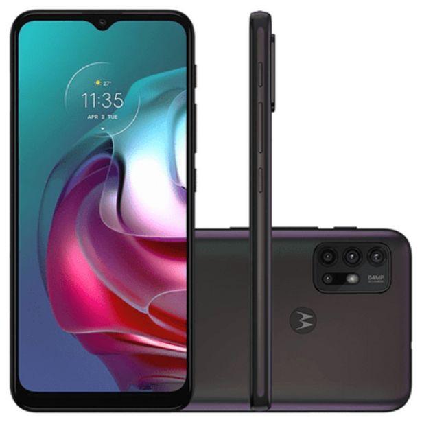 Oferta de Smartphone Motorola G30 128GB Azul por R$1499