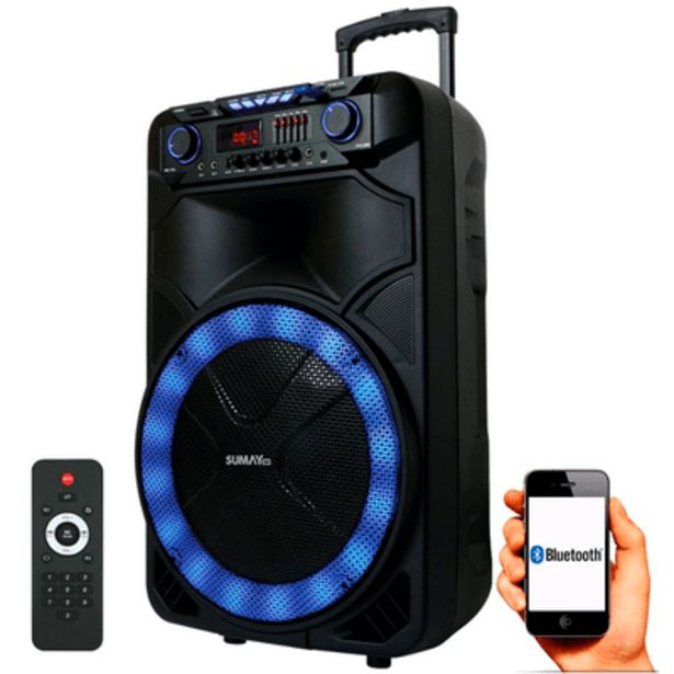 Oferta de Caixa de Som Amplificada Sumay CAP18T Thunder X 1000W por R$1189