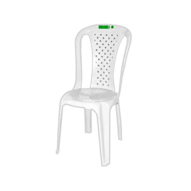 Oferta de Cadeira Plástico Topplast sem Braço Bistro Branco por R$32