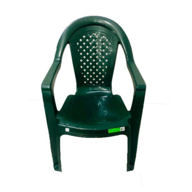 Oferta de Cadeira de Plástico Topplast com Braço Verde Bandeira por R$39,9
