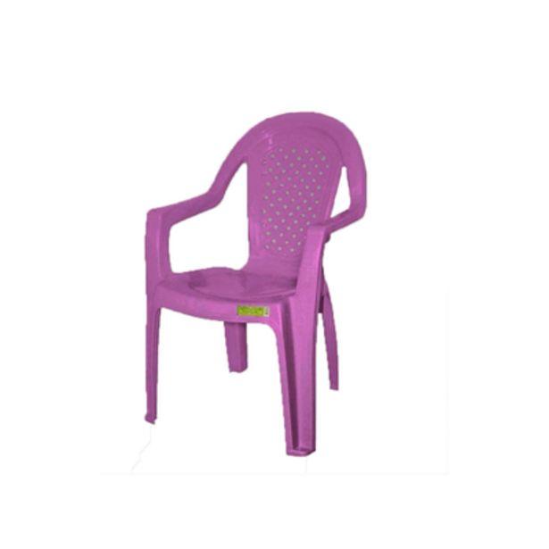 Oferta de Cadeira de Plástico Topplast com Braço Lilás por R$39,9