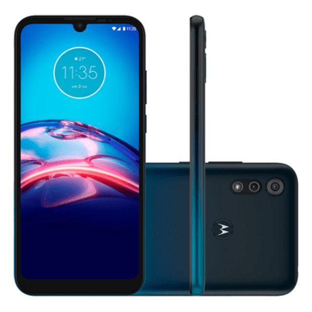 Oferta de Smartphone Motorola E6S 32GB Azul por R$1089