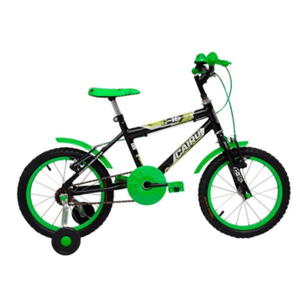 Oferta de Bicicleta Masculina Aro 16 C16 Verde/Preto Cairu por R$470,9