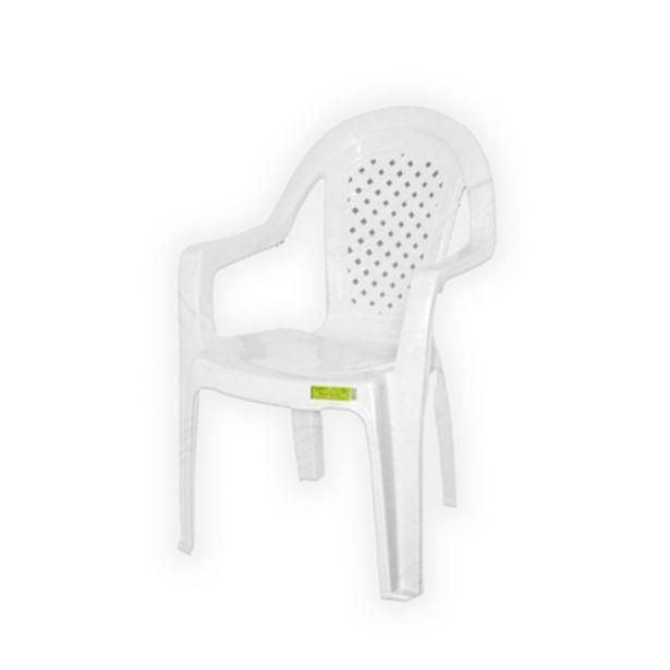 Oferta de Cadeira de Plástico com Braço Topplast  Branca por R$39,9