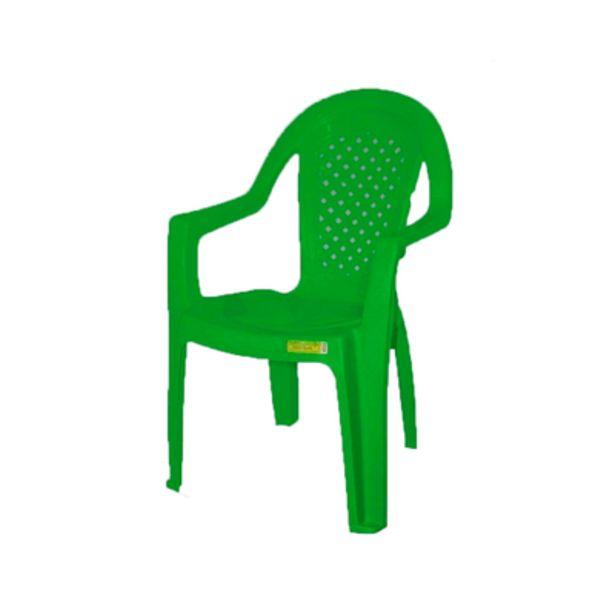 Oferta de Cadeira de Plástico Topplast com Braço Verde por R$39,9