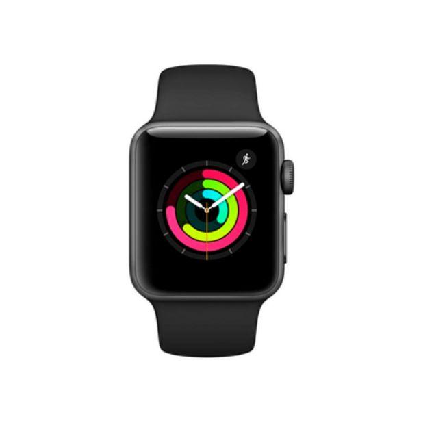 Oferta de Apple Watch Series 3 GPS, 38MM, Caixa Cinza Espacial de Alumínio, Pulseira Esportiva Preta por R$1499