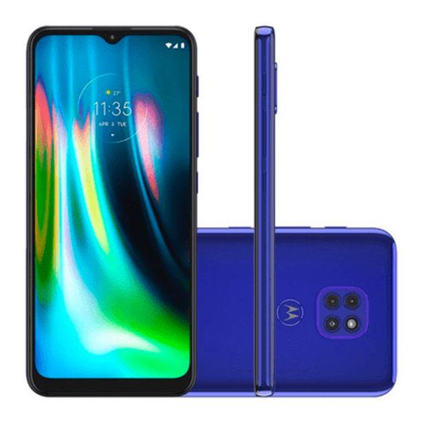 Oferta de Smartphone Motorola Moto G9 Play 64GB Azul por R$1449