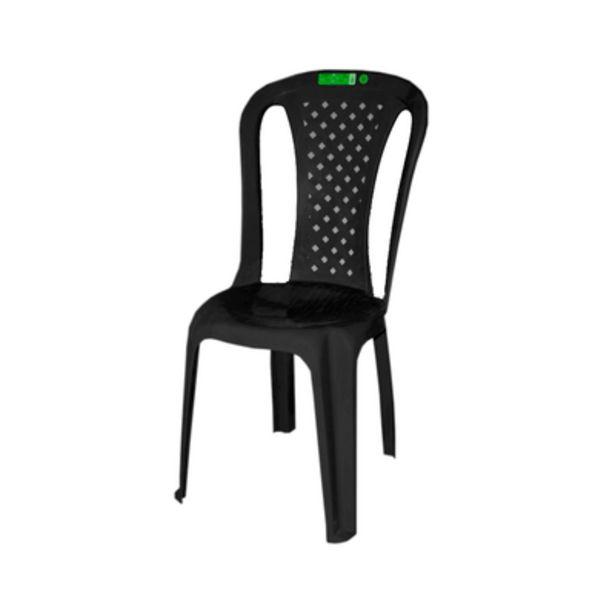 Oferta de Cadeira de Plástico Topplast sem Braço Bistro Preto por R$32