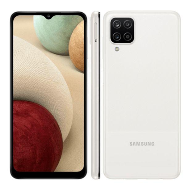 Oferta de Smartphone Samsung A12 64GB Branco por R$1199