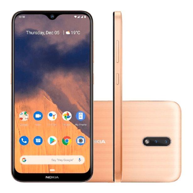 Oferta de Smartphone Nokia 2.3, 32GB, 13MP, Tela 6.2´, Dourado - NK004 por R$989