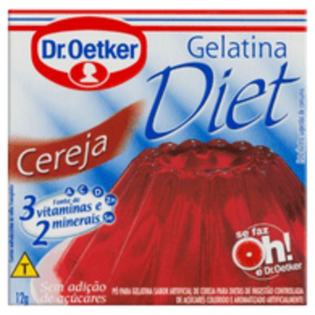 Oferta de Gelatina Diet Sabor Cereja Dr. Oetker 12G por R$2,69