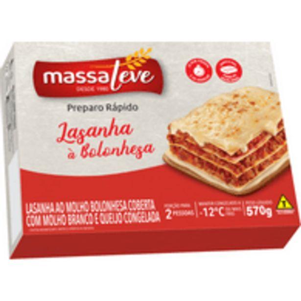 Oferta de Lasanha Massaleve Bolonhesa Congelada 570g por R$7,68