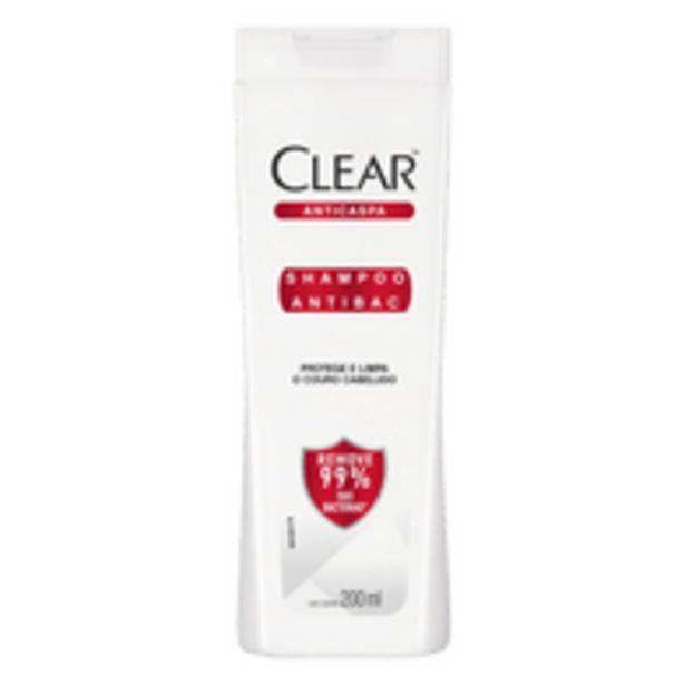 Oferta de Shampoo Anticaspa Clear Antibac Frasco 200ml por R$18,9