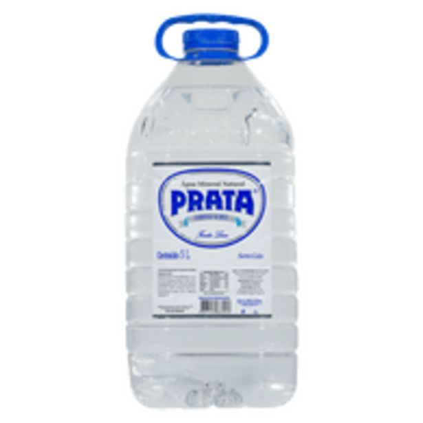 Oferta de Água Mineral Prata Sem Gás 5 L por R$6,48