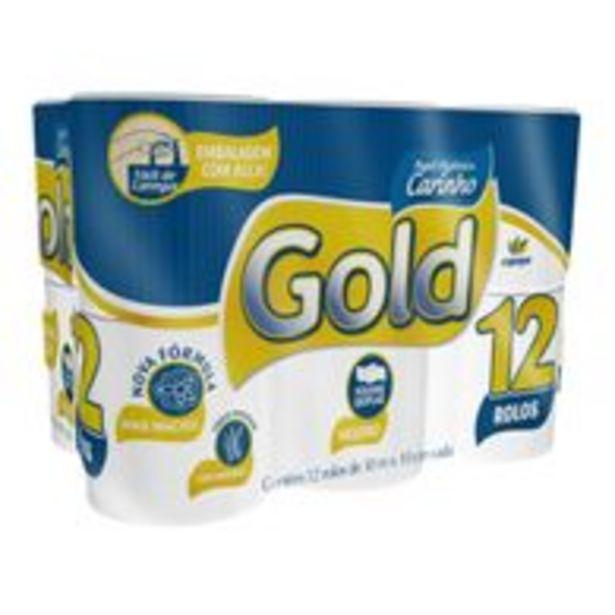 Oferta de Papel Higiênico Gold Folha Dupla Neutro 30m c/12 por R$11,98
