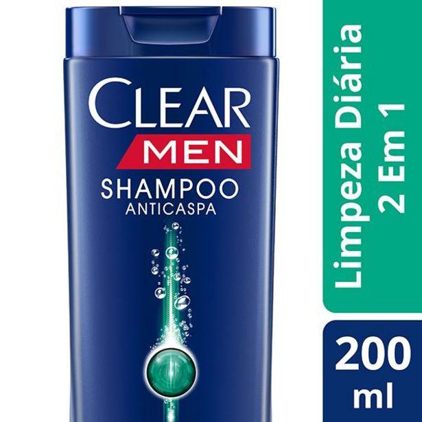 Oferta de Shampoo Clear Men 200ml Limpeza Diaria 2x1 por R$12,99