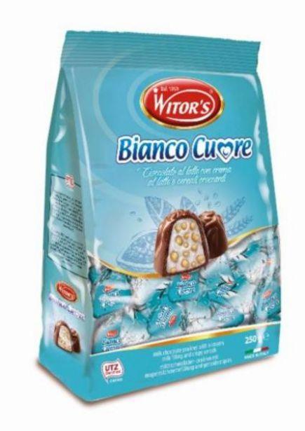Oferta de Bombom Importado Italiano Bianco Cuore Witors 250g por R$9,99