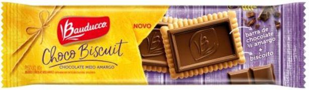 Oferta de Biscoito Bauducco Choco Biscuit 80g Meio Amargo por R$4,99