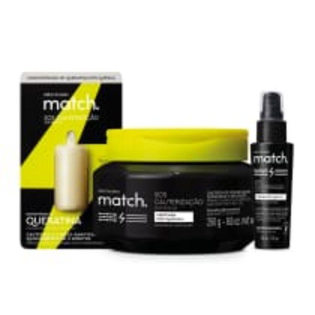 Oferta de Combo Match SOS Cauterização Pós-Química: Máscara Capilar 250g + Sérum Capilar 50ml + Concentrado de Queratina 15ml por R$95,7