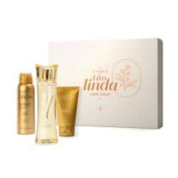 Oferta de Kit Presente Dia das Mães Linda: Desodorante Colônia 100ml + Antitranspirante 75g + Creme Corporal 75ml por R$149,9