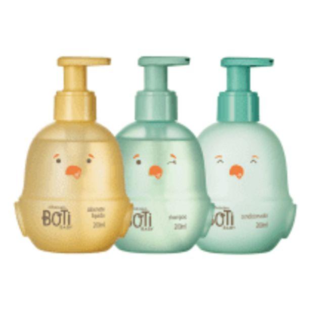 Oferta de Combo Banho Boti Baby: Shampoo + Condicionador + Sabonete Líquido por R$90,3