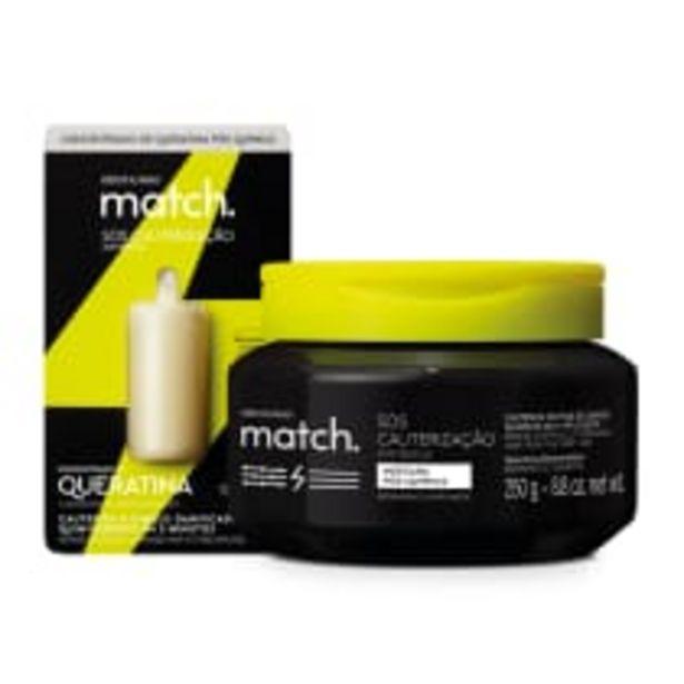 Oferta de Combo Match SOS Cauterização Pós-Química: Máscara Capilar 250g + Concentrado de Queratina 15ml por R$60,8