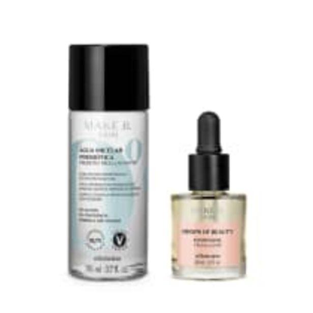 Oferta de Combo Make B Cuidados Faciais: Solução Micelar Prebiótica, 110Ml + Make B Drops of Beauty Exilir Facial, 30Ml por R$119,8