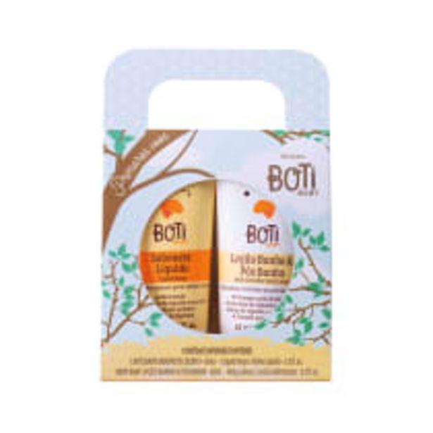 Oferta de Kit Presente Primeiros Vôos: Sabonete Líquido 65ml + Loção Banho e Pós-Banho 65ml por R$36,9