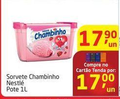 Oferta de Sorvete Chambinho Nestlé por