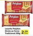 Oferta de Massa para lasanha Petybon por R$2,29