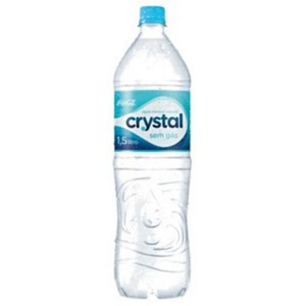 Oferta de Agua Mineral Crystal 1,5L S/Gas por R$1,89