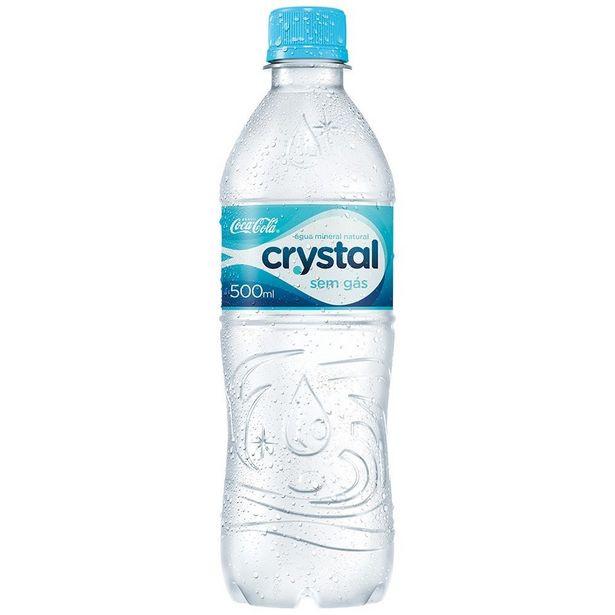 Oferta de Água Mineral Crystal 500ML Sem Gás por R$0,95
