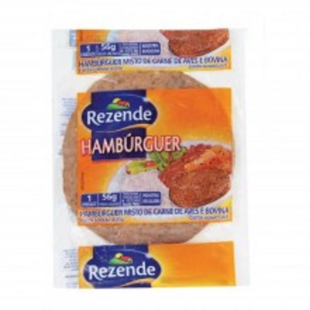 Oferta de Hambúrguer Rezende 56G por R$0,89